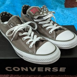 Converse charcoal and white trim